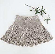 Ravelry: Erantis skirt pattern by Knitting for Sif Lace Patterns, Baby Knitting Patterns, Boho Shorts, Lace Shorts, Baby Skirt, I Cord, Linnet, Knit Skirt, 6 Years