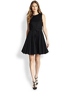 RED Valentino - Cady Tech Pleated Dress