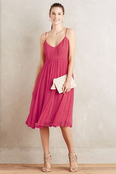 Marana Chiffon Dress #anthropologie in green