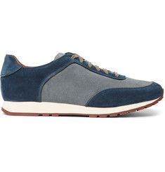 best sneakers 9ad23 f8ef8 Loro Piana Weekend Walk Two-Tone Suede Sneakers Vanliga Skor, Herrskor,  Herrkläder,