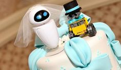 Not getting married anytime soon but love this Disney WALL-E and EVE Wedding Cake Topper Geek Wedding, Wedding Cake Toppers, Wedding Blog, Wedding Ideas, Wedding Stuff, Dream Wedding, Marvel Wedding, Wedding Inspiration, Fantasy Wedding