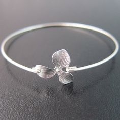 Orchid Bracelet Orchid Bangle Delicate Bracelet by FrostedWillow, $14.95