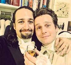 "It's time to crown a new King George.  Saturday marked Jonathan Groff's final performance in Broadway's smash hit Hamilton, and creator-star Lin-Manuel Miranda gave him a sendoff fit for, well, royalty.  ""Gnight Groffsauce. Thanks for being in the play with me,"" Miranda tweeted, captioning a photo of the two (above)."