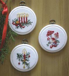 Christmas Tree Ornaments Cross Stitch Kit: Cross stitch (Danish Design by OOE, 73-12117)