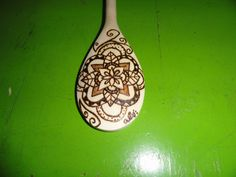 Wood Burning Spoon by AutumnLeesArt on Etsy, $10.00