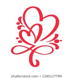 Find Two Red Lovers Heart Handmade Calligraphy stock images in HD and millions of other royalty-free stock photos, illustrations and vectors in the Shutterstock collection. Thousands of new, high-quality pictures added every day. Love Heart Tattoo, Love Symbol Tattoos, Tribal Tattoos, Tattoos Skull, Heart Tattoo Designs, Body Art Tattoos, Small Tattoos, Heart With Infinity Tattoo, Infinity Symbol