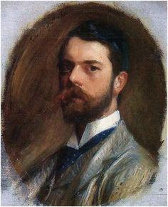 John Singer Sargent Self-Portrait,1886....What a Stunningly Handsome man,he was.