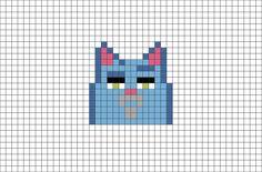 The Secret Life of Pets Chloe Pixel Art from BrikBook.com #TheSecretLifeofPets #Chloe #Cat #pixel #pixelart #8bit Shop more designs at http://www.brikbook.com