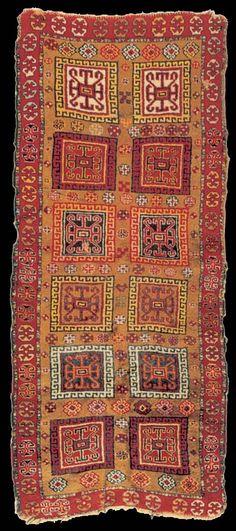 Adiyaman rug, South East Anatolia, Turkey, early 20th century, 95x225 cm. Ankara Vakiflar Museum of Ethnology. inv. no: 24546