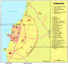 Caesarea Map - Tourist Attractions