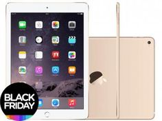 "iPad Air 2 Apple 16GB Dourado Tela 9,7"" Retina - Proc. M8 Câm. 8MP + Frontal iOS 8 Touch ID"