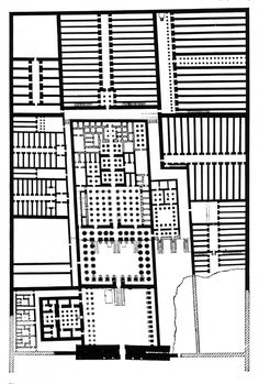 PLAN OF THE FUNERARY TEMPLE OF RAMSES II, C. 1300 BC