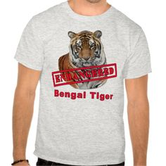 Endangered Bengal Tiger  Products Tee Shirt
