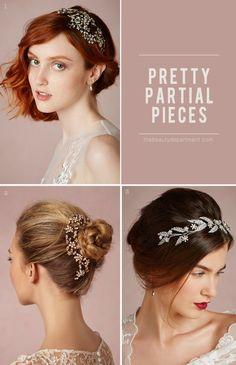 pretty partial sparkle // wedding hair