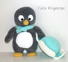 Пингвин амигуруми схема игрушки крючком