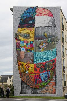 by Blo ,Bom.k ,Brusk ,Sowat, Jaw, Gris1 ,Kan ,Dmv......street artists...Brest...France projects CRIMES OF MINDS