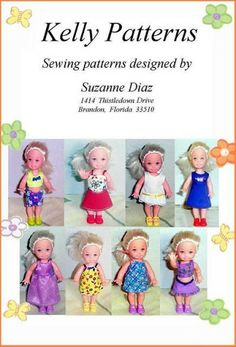 Barbie Dolls : Free Copy of Pattern – Kelly Patterns Sewing Doll Clothes, Crochet Doll Clothes, Sewing Dolls, Doll Clothes Patterns, Doll Patterns, Diy Kelly Doll Clothes, Dolls Dolls, Doll Crafts, Diy Doll
