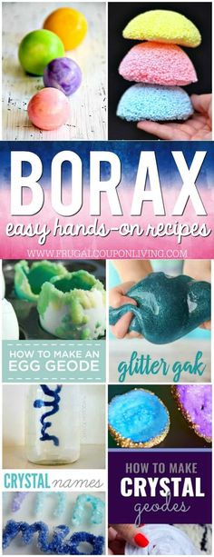 Best Diy Crafts Ideas Borax Uses for Kids on Frugal Coupon Living. 15 of the most creative Borax Recipes and science experiments to create in the home. Hands-on science experiments for kids. Preschool Science, Science Experiments Kids, Science Fair, Science For Kids, Science Activities, Toddler Activities, Summer Science, Borax Experiments, Science Projects For Kids