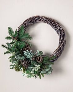 Balsam Hill's beautiful selection of artificial Christmas wreaths and garlands are the perfect complement to your Christmas décor. Shop foliage on Balsam Hill UK. Realistic Artificial Christmas Trees, Artificial Christmas Wreaths, Christmas Door Wreaths, Noel Christmas, Rustic Christmas, Christmas Decorations, Christmas Reath, Wood Wreath, Diy Wreath