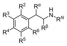 フェネチルアミンおよびアンフェタミンの一般構造  フェネチルアミン - Wikipedia