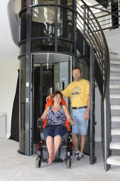 What if you are living in a 2 story home and can no longer use the stairs?  A pneumatic elevator can be the answer!  Excavating a pit and installing a hoist system is not needed, and since it sets on the floor, you could take it with you when you move.