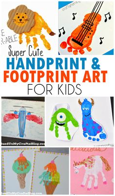 Cute Handprint & Footprint Art Ideas For Kids!