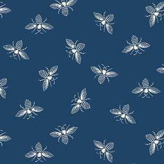 Bee Fabric, Cotton Fabric, True Colors, Colours, Andover Fabrics, Thing 1, Quilting Designs, Fabric Design, Indigo