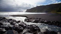 black sand beach iceland - Google Search
