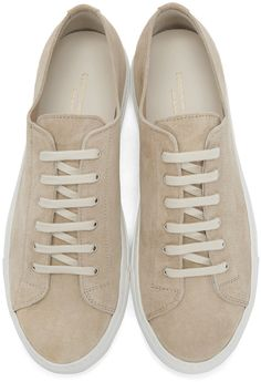 Common Projects - Beige Suede Tournament Sneakers