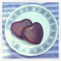vegan sugar free chocolate hearts! tastes sort of like toblerone and So delicious!   click on image for recipe