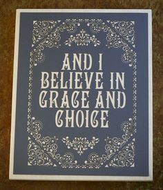 Laser Cut Paper mounted on Wood Canvas {Type Design} // Grace and Choice by Chase Kettl