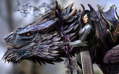 Anime Warrior Women Control The Beast  #Manga #Illustration #Anime