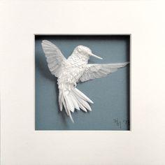 New Paper Hummingbirds by Cheong-ah Hwang  http://www.thisiscolossal.com/2013/12/new-paper-hummingbirds-by-cheong-ah-hwang/