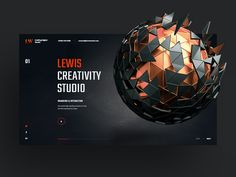 Lewis Studio designed by Logan Cee. the global community for designers and creative professionals. Layout Site, Web Layout, Layout Design, App Design, Creative Web Design, Homepage Design, Brand Management, Application Design, Creative Portfolio