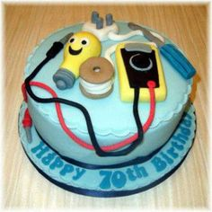 The Kind of Birthday cake I would want!! Electricians Cake.