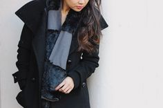 studs and pearls: diy: Fleece & Faux Fur Panel Scarf