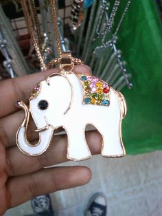 A cute elephant necklace from Kikay Lakwatchera.