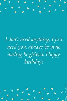 When your boyfriend is at distant, these wishes and messages make your love more strong for him and you. Send these. Romantic Birthday Messages, Birthday Message For Boyfriend, Birthday Wishes For Him, Happy Birthday Fun, Long Distance Birthday, Simple Love Quotes, Long Distance Boyfriend, Messages For Him, Strong