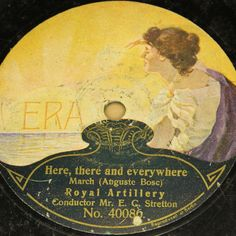 """Nice and rare Label for very low Special Price:-)  2nd 78rpm springtimeauction 78rpm with many Raritys :-)  !!! Low Startprice !!! Worldwide shipping !!!  Mr. E. C. STRETTON & ROYAL ARTILLERY """"Here, there and everywhere"""" ERA 78rpm"""