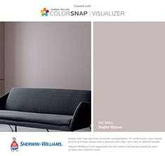 I found this color with ColorSnap® Visualizer for iPhone by Sherwin-Williams: Studio Mauve (SW 0062).