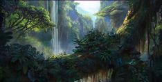 19 Ideas For Nature Backgrounds Forest Concept Art Fantasy Art Landscapes, Fantasy Landscape, Landscape Art, Landscape Paintings, Artwork Paintings, Environment Concept Art, Environment Design, Fantasy Places, Fantasy World