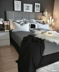 The Ultimate Master Bedroom Design And Decor Ideas Trick 6 - walmartbytes Grey Bedroom Decor, Room Ideas Bedroom, Master Bedroom Design, Dream Rooms, Dream Bedroom, Bedroom Styles, Luxurious Bedrooms, My New Room, House Rooms
