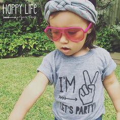 """Your little girlis turning two years old! Let him celebrate in style with this playful and funny t-shirt created just for him. Featuring the phrase, """"I'm 2, le"""