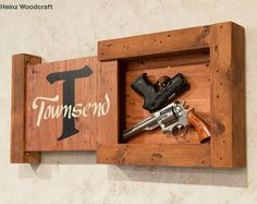 Our concealed storage signs are hand crafted from your choice lumber. Designed to be discrete these are perfect for safe storage of your home defense weapon in any room of the house. Most homes have a single safe storage area for their home defense weapons. Our concealed storage signs give you a way to safely and discretely store your home defense weapon in any room of the house giving you instant access if it is ever needed. Every detail was considered in the design and construction of…