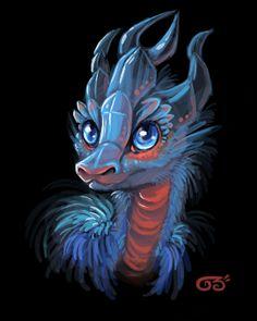 Cute Baby Ice Dragon | Baby ice dragon by griffsnuff on deviantART