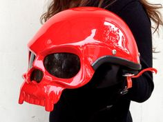 Masei 419 Red Skull Helmet for Harley Davidson Biker...haha i know my brother would wear this!