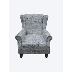 Arm chair with french text