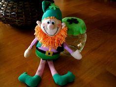 St Patty's Day Candy Jar  Vintage Leprechaun by ParadeOfMemories