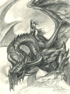 Daenerys and Drogon by sebastien-grenier