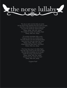 Norse Lullaby by Eugene Field Norse Pagan, Norse Mythology, Norse Symbols, Alchemy Symbols, Mayan Symbols, Egyptian Symbols, Ancient Symbols, Pretty Words, Beautiful Words